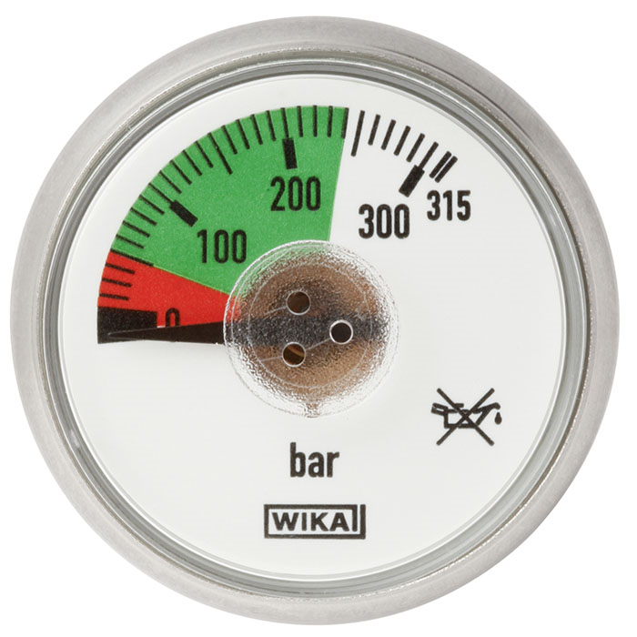 Model 116.15 Pressure gauge with spiral tube Back mount, Direct drive version