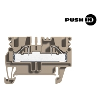 Weidmueller Terminals PUSH IN technology Modular feed-through terminals 2.5 / 4 mm²