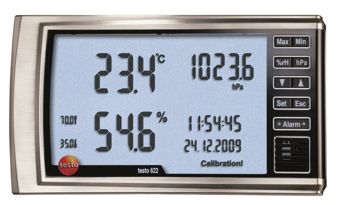 Testo 622 Thermo hygrometer barometer HVACR Buildings construction Commissioning Operations maintenance service